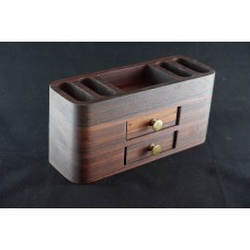 Wooden pencil case with drawers